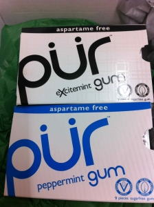 She must have read my mind as this is the only gum we ever buy.  We love that it's aspartame-free.