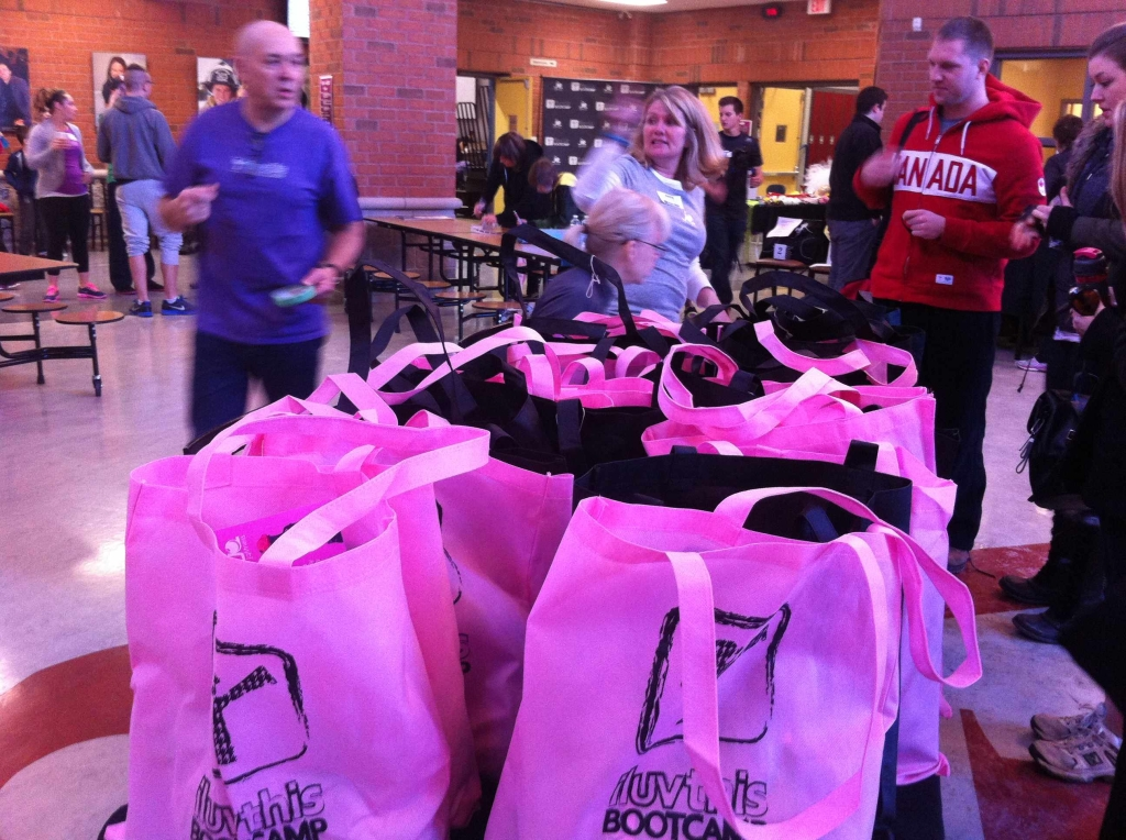 These were this year's swag bags and they were filled with amazing goodies.