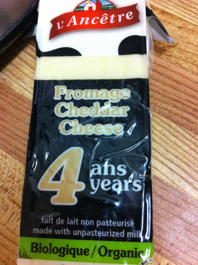 This is on of our favourite aged cheddar cheeses. It's raw and organic and oh so sharp.