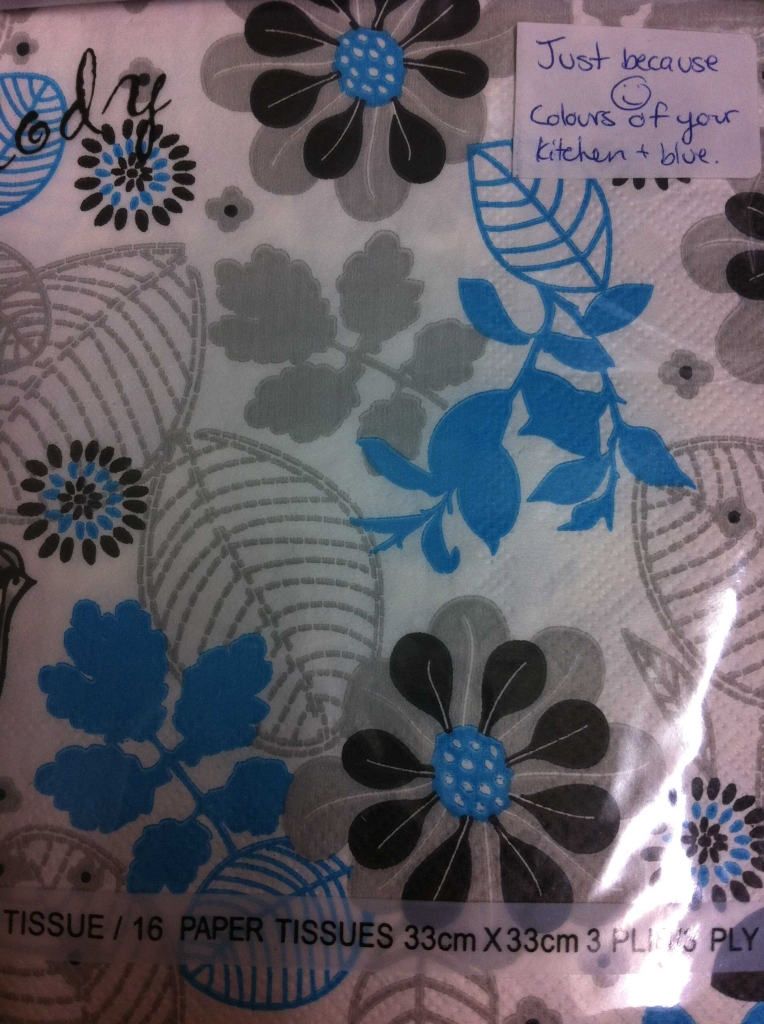 Even fancy napkins! :)