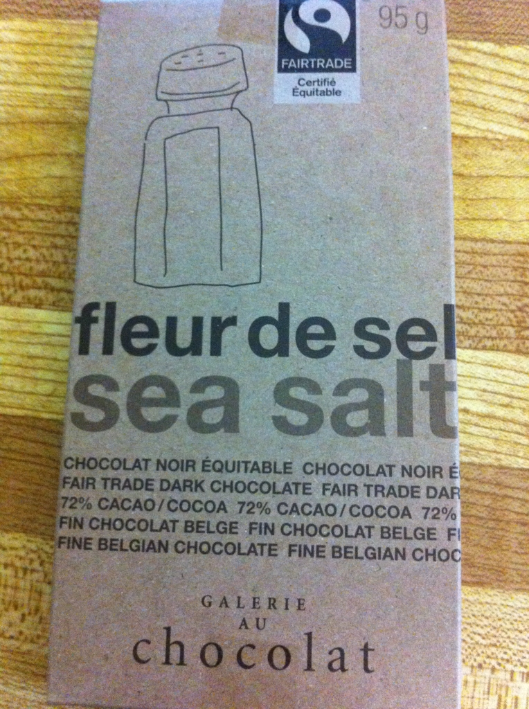 Dark chocolate with salt.  Need I say more?