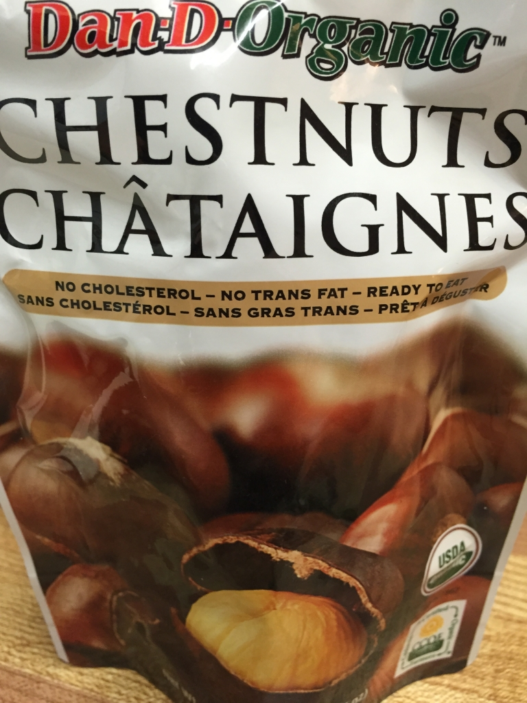 And minced a full bag of organic chestnuts