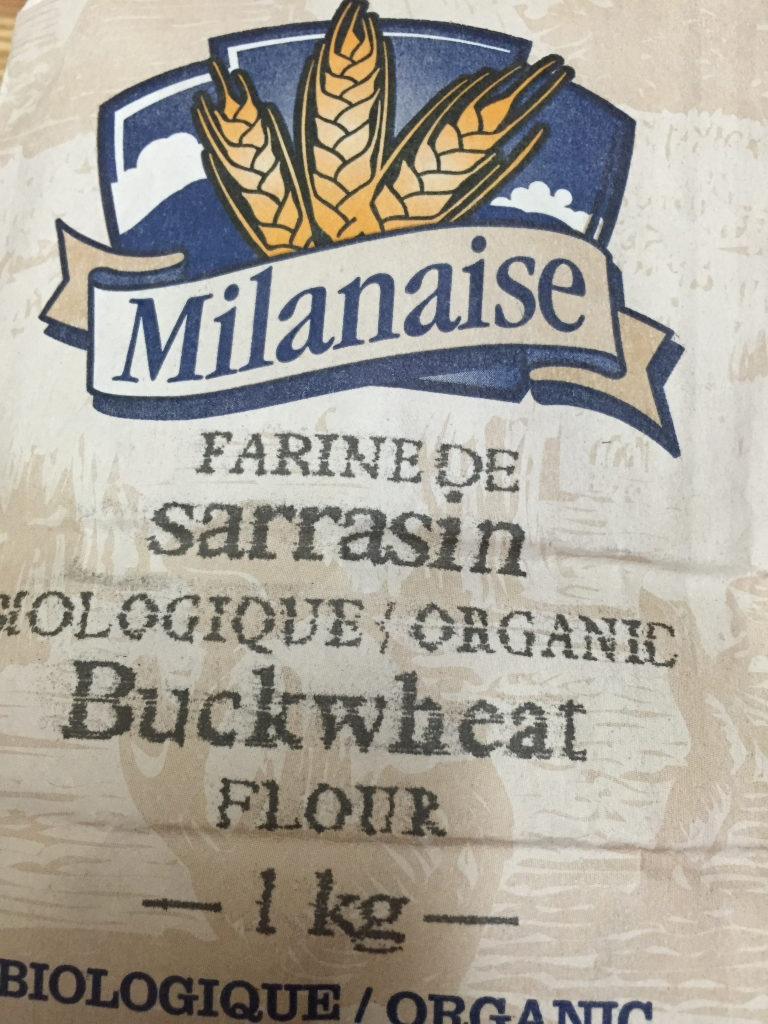 And this is the buckwheat flour. I usually make my own in the Vitamix but had this in my pantry.